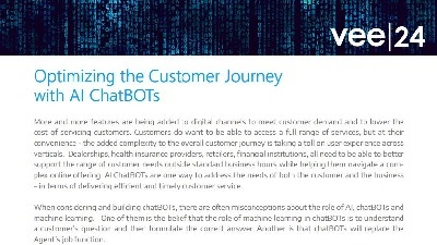 optimize customer journey with ai chatbots guide vee24 logo