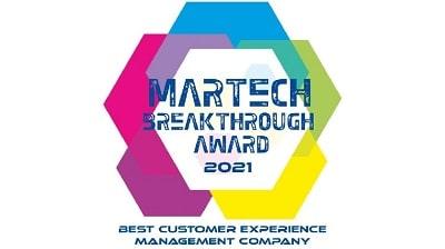 martech breakthrough award 2021 best customer experience management company